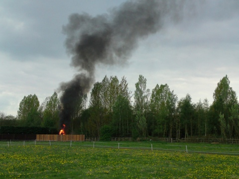 Untitled (something on fire), 2011